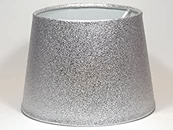 Silver glitter metallic effect lampshade or ceiling light shade 95 indoor lighting lamps lamp shades mozeypictures Gallery