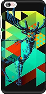 The Racoon Lean printed designer hard back mobile phone case cover for Vivo X Play 5 / Vivo X Play 5 Elite. (Deer Graph)