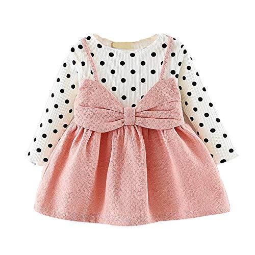 c6f4ddf98 LANSKIRT Ropa para Recién Nacido Infantil bebé niñas Lunares de ...