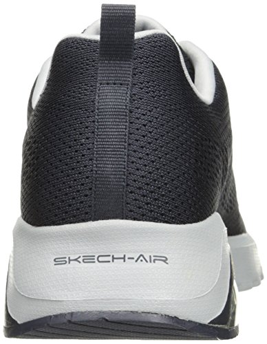 Skechers Air Extreme-Natson, Chaussures de Running Homme Gris (Charcoal/grey)