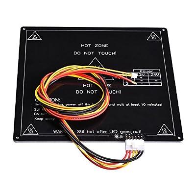 BIQU Aluminum MK3 12V Heatbed Platform 220*220*3mm PCB Hot Plate with Cable Line for Reprap 3D Printer