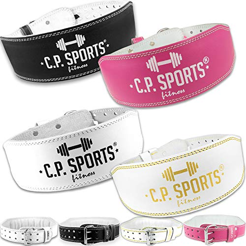 C.P. Sports Gewichthebergürtel Leder, Gewichtheben Fitnessgürtel, Trainingsgürtel für den Kraftsport mit hohen Gewichten XS pink