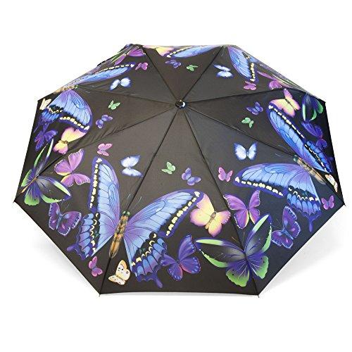 tik Regenschirm für Damen Motiv bunte Schmetterlinge Rosemarie SCHULZ Heidelberg (Verkleiden Tag Ideen)