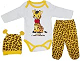 aprom Giraffe Baby Strampler mit Mütze Giraffenkostüm Kostüm Neugeborene (62 - 0/3 Monatenate)