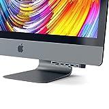 SATECHI Pro Hub Pinza de Aluminio Tipo-C con Puerto de Datos USB-C, 3 USB 3.0, Lector de Tarjetas Micro/SD Compatible con 2017 iMac y iMac Pro (Gris Espacial)