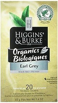 Higgins & Burke, Black Tea, Earl Grey, 20 Count (Pack of 6)