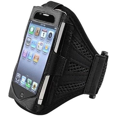 Super Best Maglia nera Esecuzione della copertura della cassa del bracciale per il iPhone 4S / 4