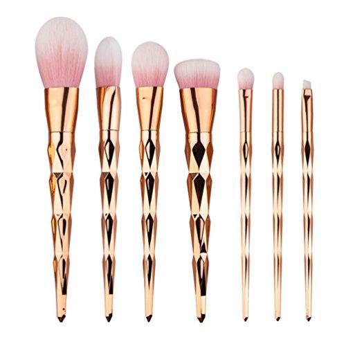 Fashion Base® 7 pcs/lot Lot de pinceaux de maquillage de licorne Brochas Pinceis Unicornio Brosse du visage Fond de teint Maquillaje Maquillage kit de brosse