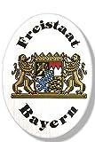 Holzschild-Deko-Schild - Freistaat Bayern - 70323 - Gr. Ca. 19cm x 13cm
