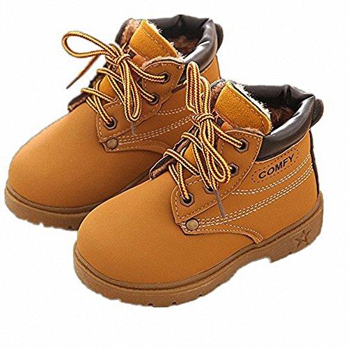 Kinder Winterstiefel warme Stiefel England Martin Stiefel Winter Schuhe Gummi Fußsohlen,Jungen Mädchen