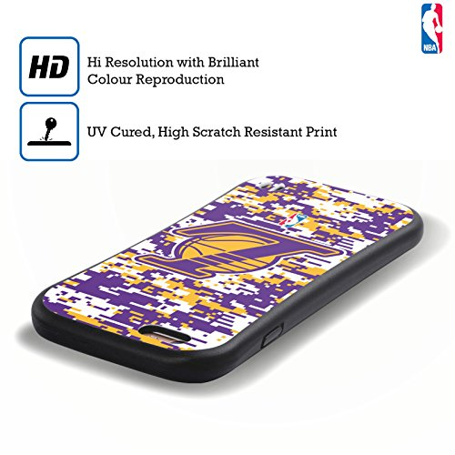 Ufficiale NBA Icona Oversize Los Angeles Lakers Case Ibrida per Apple iPhone 6 Plus / 6s Plus Camouflage Digitale