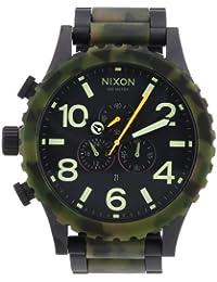 Nixon Herren-Armbanduhr XL 51-30 Chrono Matte Black / Camo Chronograph Quarz Edelstahl beschichtet A0831428-00
