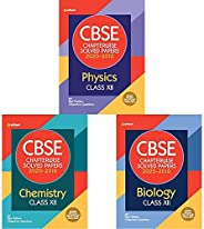 CBSE Chapterwise Solved Paper Class 12 of Physics,Chemistry & Biology for 2021 Exam (Set of 3 bo