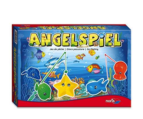 Noris 604-9103 606049103-Angelspiel mit 4 Angeln, Kinderspiel