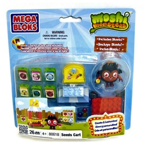 MEGA BLOKS MOSHI MONSTERS SEED CART 26PCS PLAYSET NEW