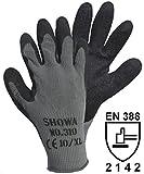 Showa 14905310schwarz Grip Handschuhe Baumwolle/Polyester mit Abdeckung aus Latex Größe: 9