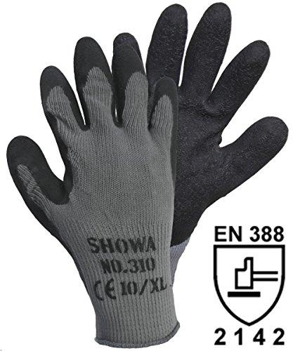 Showa 14905310schwarz Grip Handschuhe Baumwolle/Polyester mit Abdeckung aus Latex Größe: ()