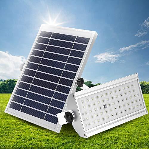 Especificación: Material: aleación de aluminio Tamaño: aprox. Panel solar-17.5 * 26.5cm / 6.89 * 10.43in, Lámpara-22.5 * 12.5 * 8cm / 8.85 * 4.92 * 3.14 pulgadas Peso aproximado. 1845g Panel solar: 6-8W Batería: Batería incorporada de 3 piezas 2200mA...