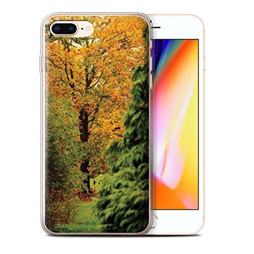 Stuff4 Gel TPU Hülle / Case für Apple iPhone 8 Plus / Löwenzahn Makro Muster / Englische Gärten Kollektion Alter Baum
