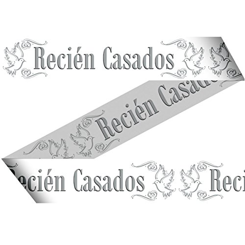 Preisvergleich Produktbild Absperrband Wimpelkette Hochzeit Recien Casados spanisch