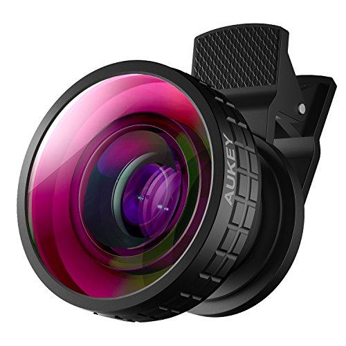 AUKEY Obiettivo Smartphone 180 Gradi Fisheye Clip On Obiettivo Fisheye per...