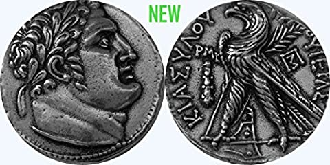 Judas' 30 Pieces of Silver, Shekel of Tyros Coin, 126 B.C. to 57 A.D. (87-S) 25 mm, 6 g (larger than US Quarter 24