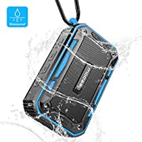 Deepow Bluetooth Speakers, 10W IP67 Waterproof Speaker with 3000mAh Battery Support TF Card and AUX 6
