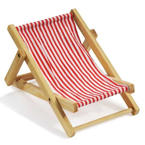 Deko-Liegestuhl ca. 10 cm rot-weiß