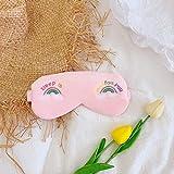 Augenmaske für schlafende Tiere, Plüsch Auge Abdeckung Schlafmaske, kreative Reise Relax Regenbogen Einhorn Cartoon Nap, für Jungen und Mädchen Geburtstag Urlaub Geschenke rosa