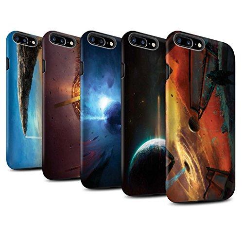 Offiziell Chris Cold Hülle / Matte Harten Stoßfest Case für Apple iPhone 8 Plus / Pulsar/Neutron Stern Muster / Galaktische Welt Kollektion Pack 6pcs