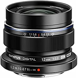 Olympus Objectif Zuiko Digital ED 12 mm 2.0 - Noir