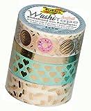Folia 26431 - Hotfoil gold II Washi Tape, 4er Set