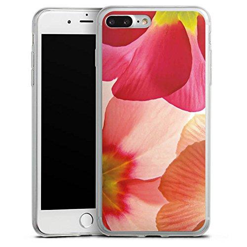 Apple iPhone X Slim Case Silikon Hülle Schutzhülle Blume Blütenblätter Pink Silikon Slim Case transparent