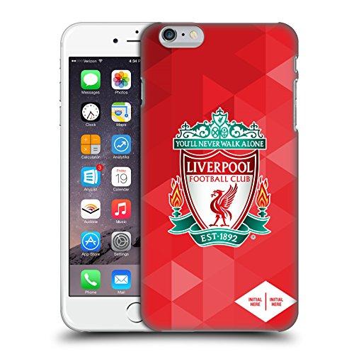 Personalizzata Personale Liverpool Football Club Cresta Geometrico Rosso 2017/18 Logo Cover Retro Rigida per Apple iPhone X Cresta Geometrico Rosso