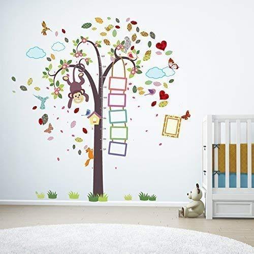 extraíble Autoadhesivo Adhesivos de pared cuarto del bebé mono altura Métrico Colorido...
