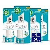 Air Wick Pure Freshmatic Auto Spray Profumo di Primavera, Base + Ricarica da 250 ml, 4 unità