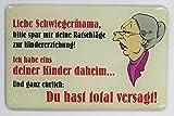 """Kühlschrankmagnet mit 3D-Aufkleber ca. 87 x 56 mm - lustiger Spruch: """"Liebe Schwiegermama"""