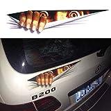 GOGOGO 3D autocollant pour voiture Peeking Motif monstre étanche voiture Style Corps en lot de 2