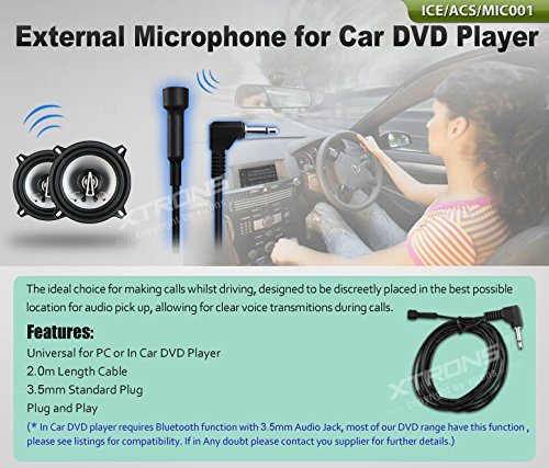 Price comparison product image XTRONS Mini External 2M Microphone For Bluetooth Car DVD Players BT Device Handsfree