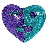 NEEDRA Valentinstag Liebe Form Doppel Farbe Pailletten Dekokissen Home Decor Kissen