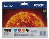 Brother LC980 Tintenpatrone, Multipack, schwarz/cyan/magenta/gelb
