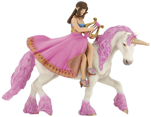 Papo Princess with Lyre On Her Horse Toy