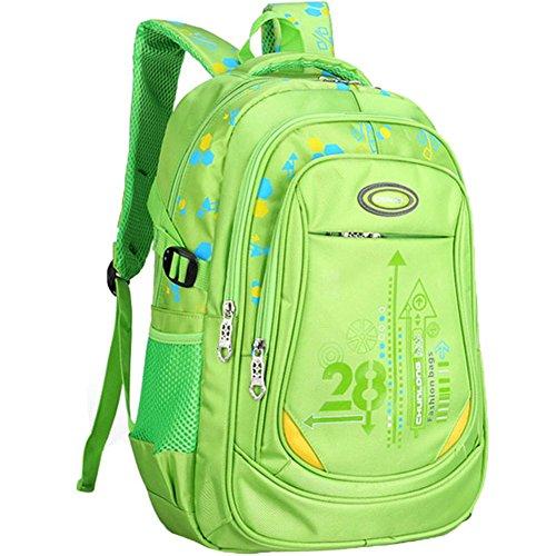 Da Jia Inc Multifunktionsrucksack Kinder-Rucksack Sport Rucksack Schulrucksack Schultertasche Rucksack Backpack Fahrradrucksäcke 12.6*5.5*16.9inch (Grün) Grün