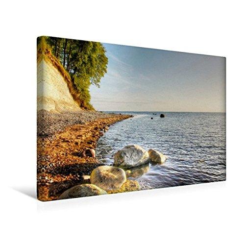 Calvendo Premium Textil-Leinwand 45 cm x 30 cm quer, Nylands Nakke Strand | Wandbild, Bild auf Keilrahmen, Fertigbild auf echter Leinwand, Leinwanddruck Natur Natur