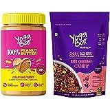 Yogabar Peanut Butter Dark Chocolate Muesli Combo | Pure Peanut Butter | Dark Chocolate Muesli