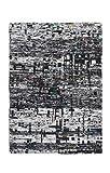 Casa Padrino Designer Seidenteppich Vintage Look Graphite - Handgeknüpft - Möbel Teppich Seide, Grösse:200 x 290 cm
