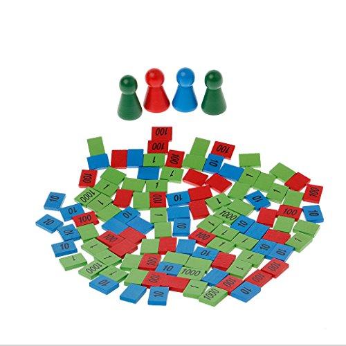 Senoow Montessori Holzstempel Spiel Math Spielzeug Kid Kinder Früher Unterricht Spielzeug Geschenk