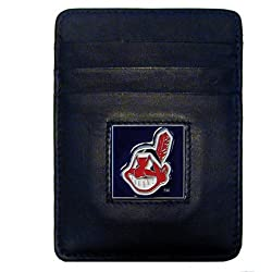 MLB Cleveland Indians Leather Money Clip/Cardholder