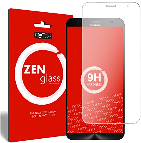 nandu I ZenGlass Flexible Glas-Folie für ASUS ZenFone 2, 2 Deluxe Panzerfolie I Bildschirm-Schutzfolie 9H