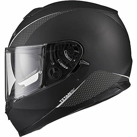 Black Titan SV Solid Motorcycle Helmet M Matt Black